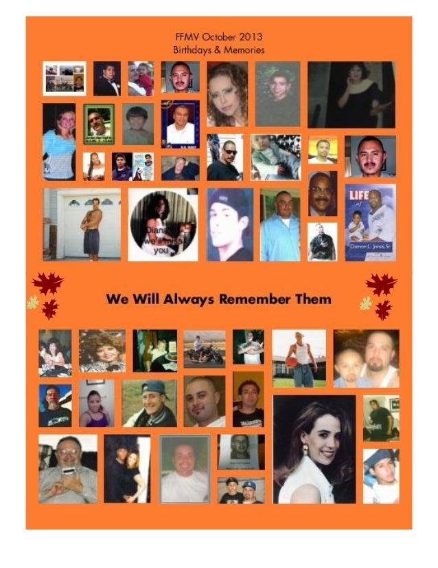 FFMV Birthdays FFMV Memories October 2013