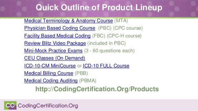October 2014 medical coding qa webinar 7 quick outline of product lineup medical terminology anatomy course fandeluxe Images