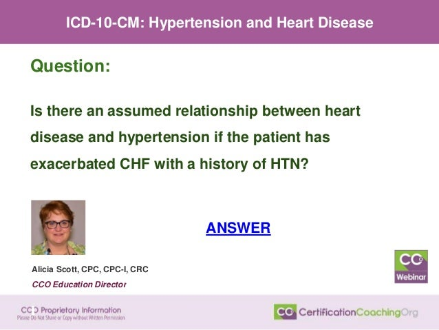 1 10 assumes a relationship between hypertension and renal failure