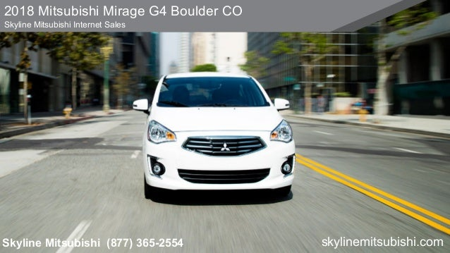 2018 Mitsubishi Mirage G4 Boulder Co