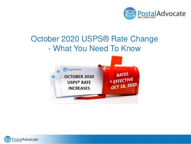 October 2020 USPS® Rate Change - What You Need To Know