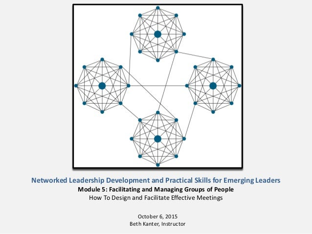 Networked Leadership Development and Practical Skills for Emerging Leaders Module 5: Facilitating and Managing Groups of P...