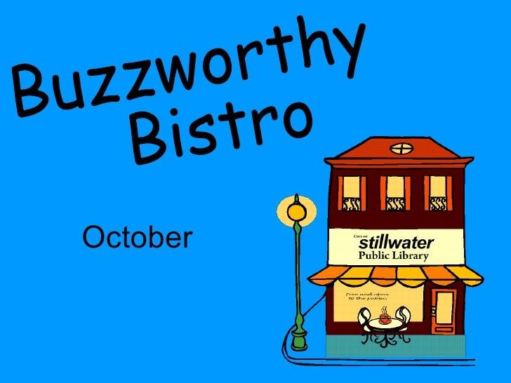 October Buzzworthy Bistro