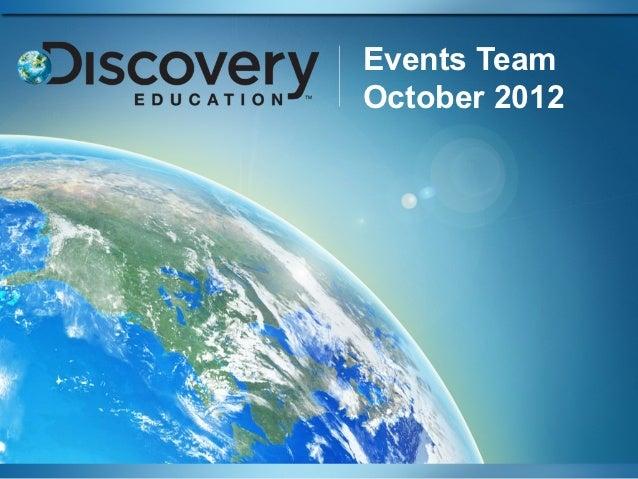 Events TeamOctober 2012