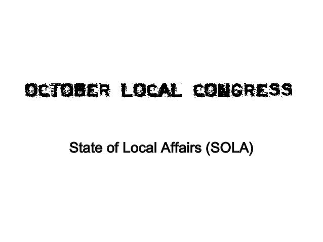 State of Local Affairs (SOLA)