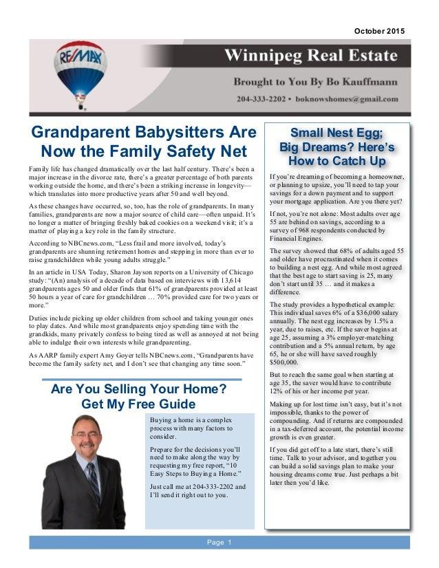 Real Estate Newsletter | Real Estate Newsletter For October 2015