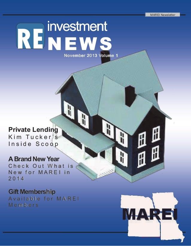 2013 RE investment News RE investmentinvestmentinvestment NEWSNEWSNEWSNovember 2013 Volume 1November 2013 Volume 1November...