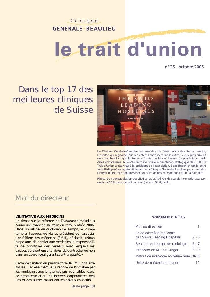 Dans le top 17 des meilleures cliniques de Suisse