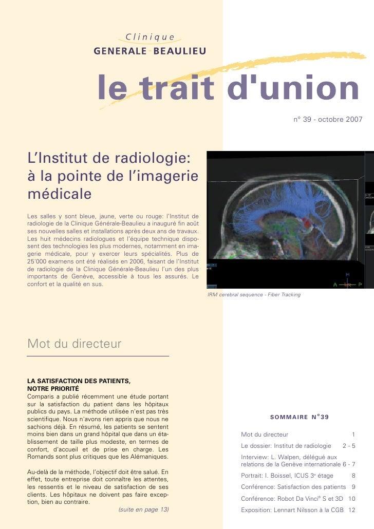 L'Institut de radiologie: à la pointe de l'imagerie médicale