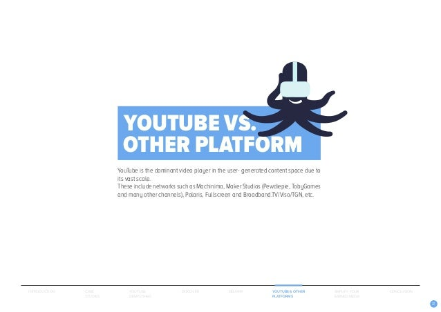 22 YouTube is the dominant video player in the user- generated content space due to its vast scale. These include networks...