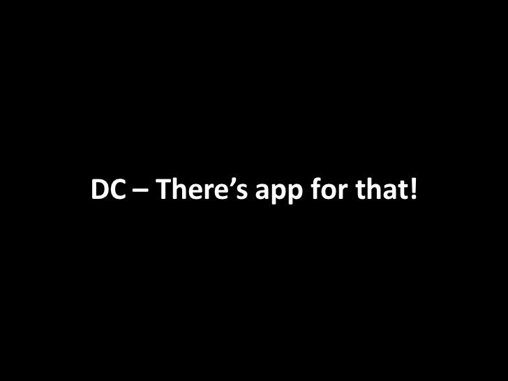 DC – There's app for that!<br />