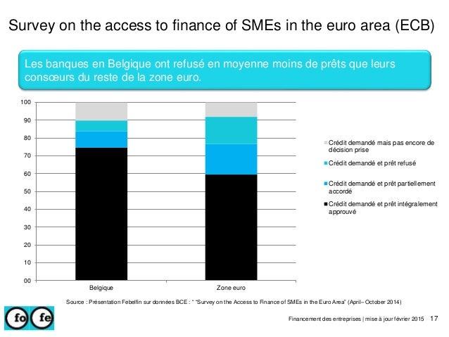 Survey on the access to finance of SMEs in the euro area (ECB) Financement des entreprises | mise à jour février 2015 17 L...