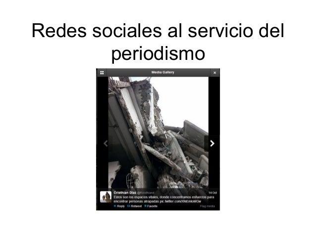 Redes sociales al servicio del periodismo
