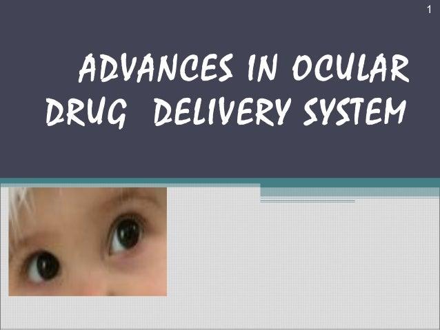 1  ADVANCES IN OCULARDRUG DELIVERY SYSTEM