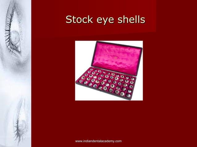 Stock eye shellsStock eye shells www.indiandentalacademy.comwww.indiandentalacademy.com