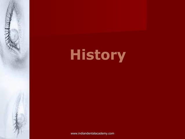 History www.indiandentalacademy.comwww.indiandentalacademy.com