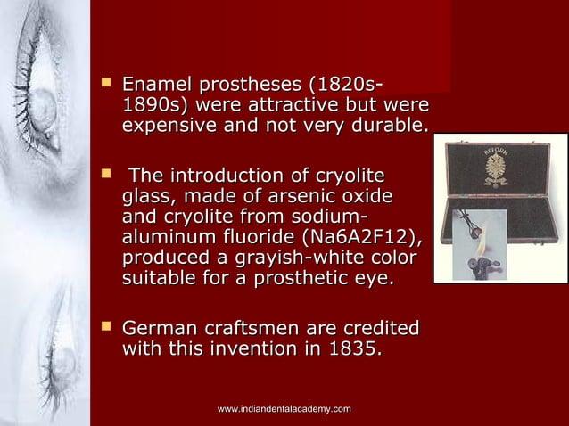  Enamel prostheses (1820s-Enamel prostheses (1820s- 1890s) were attractive but were1890s) were attractive but were expens...