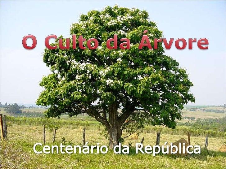 O Culto da Árvore<br />Centenário da República<br />