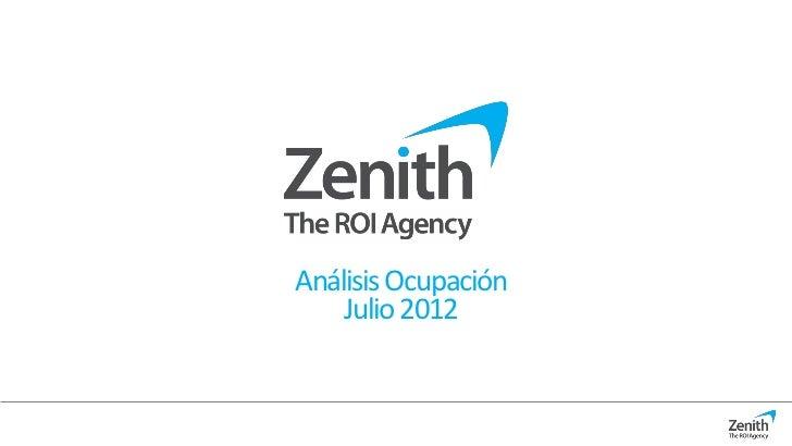 Análisis Ocupación    Julio 2012