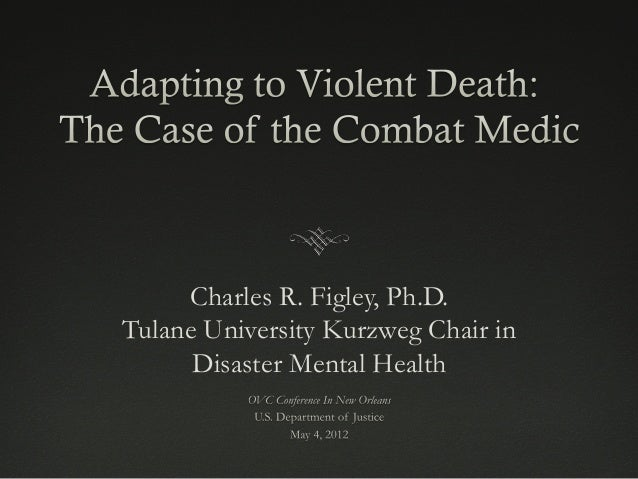 Charles R. Figley, Ph.D. Tulane University Kurzweg Chair in Disaster Mental Health