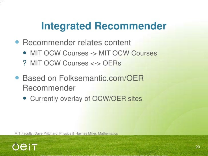 Improved Video Players<br />All MIT OCW videos have 99% accurate transcripts<br />Displayed as captions on YouTube<br />Av...