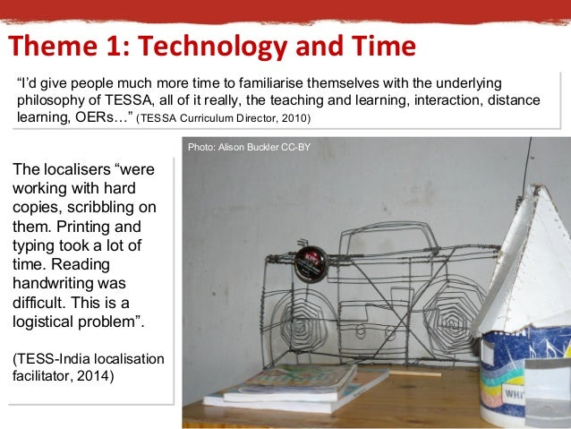 """Theme 1: Technology and Time  """"I'd give people much more time to familiarise themselves with the underlying  philosophy of..."""