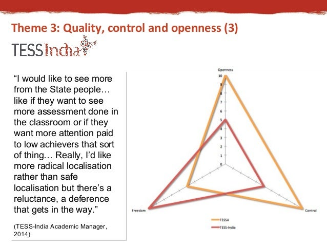 """Theme 3: Quality, control and openness (3)  """"I would like to see more  from the State people…  like if they want to see  m..."""