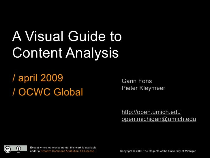 A Visual Guide to Content Analysis / april 2009                                               Garin Fons                  ...