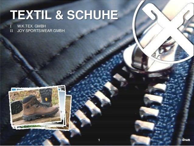 TEXTIL & SCHUHE I II  W.K.TEX. GMBH JOY SPORTSWEAR GMBH  1