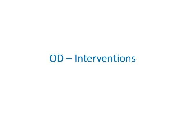 OD – Interventions