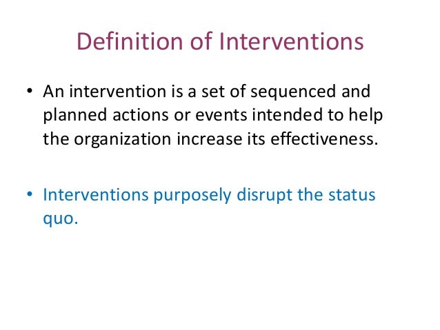 Intervention study | definition of intervention study by ...