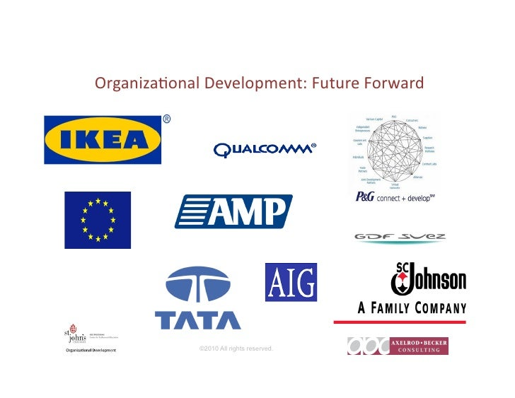 Organiza)onal  Development:  Future  Forward                         ©2010 All rights reserved.