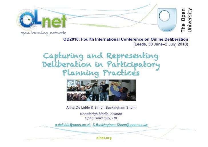 OD2010: Fourth International Conference on Online Deliberation                                           (Leeds, 30 June–2...