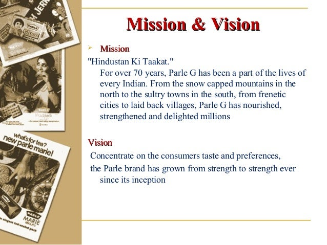 Vision and mission in parle g