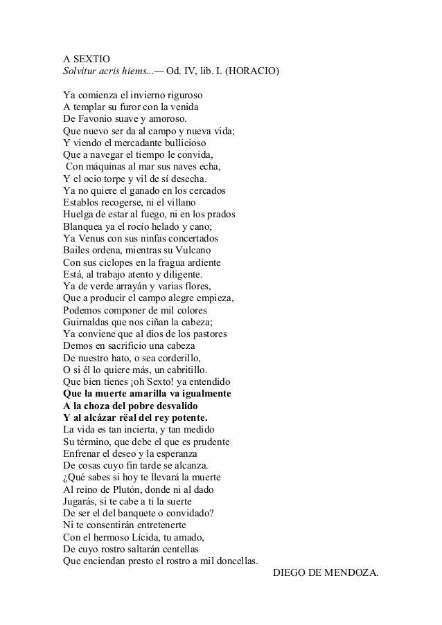 A SEXTIO Solvitur acris hiems...— Od. IV, lib. I. (HORACIO) Ya comienza el invierno riguroso A templar su furor con la ven...