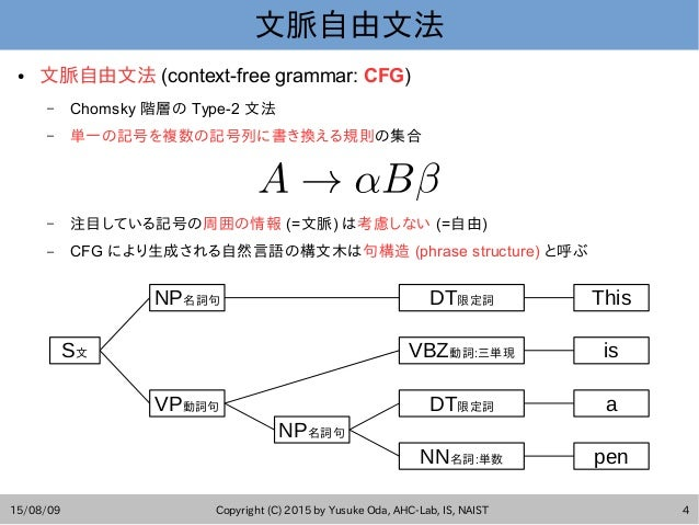 PCFG構文解析法