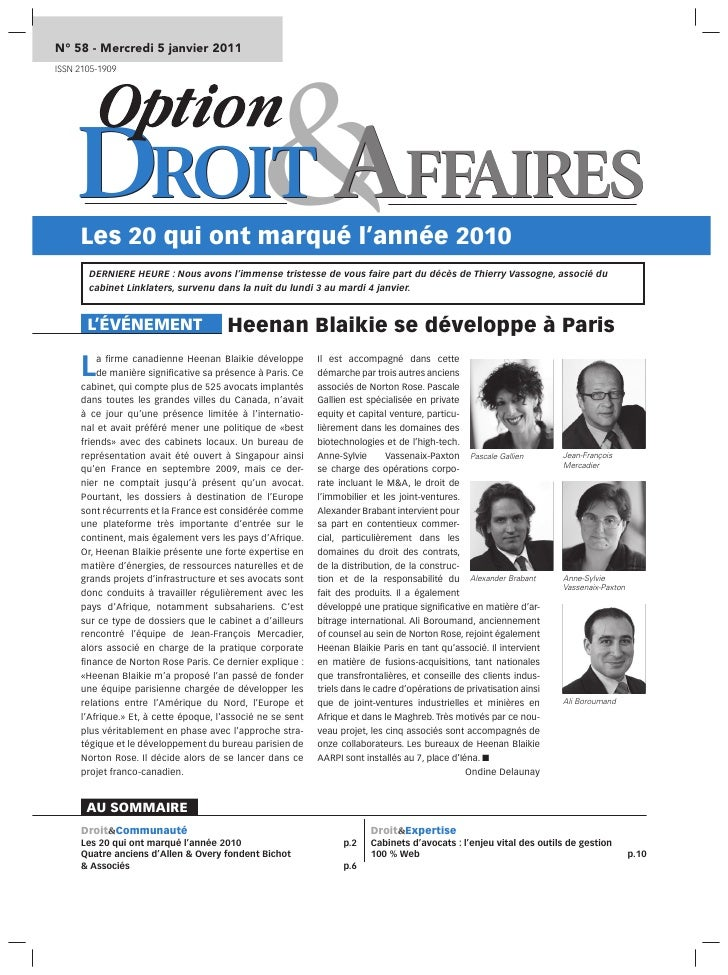 Option Droit et Affaires