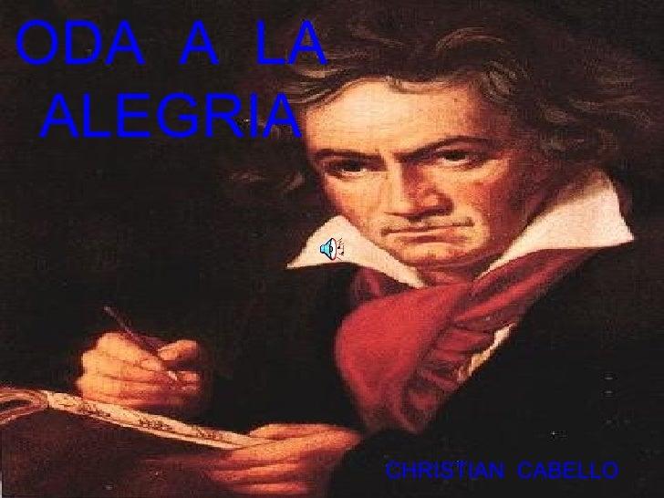 ODA  A  LA ALEGRIA CHRISTIAN  CABELLO