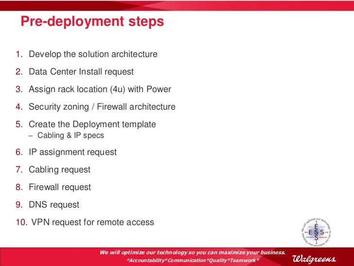 vpn access request form template - oda as an enterprise solution at walgreens oow 2012 v7