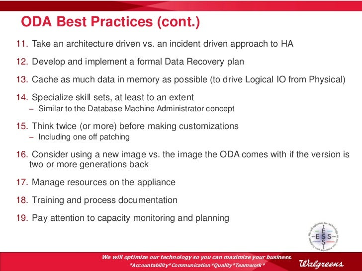 Oda as an enterprise solution at walgreens oow 2012 v7