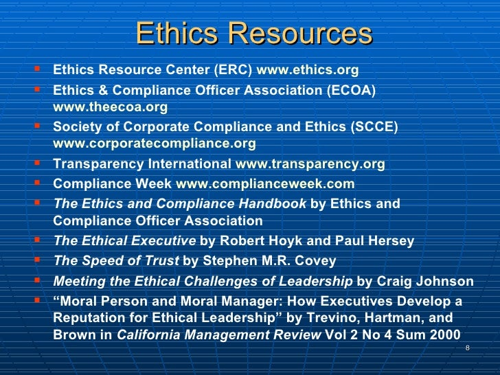 Od applications in ethics and compliance - Ethics and compliance officer association ...
