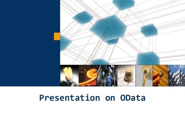 1 Presentation on OData