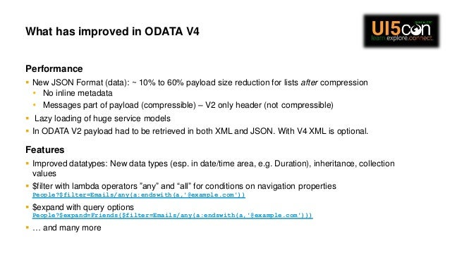 Odata V4 : The New way to REST for Your Applications