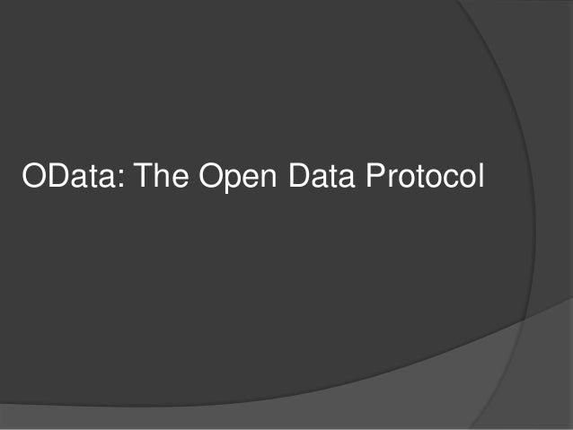OData: The Open Data Protocol