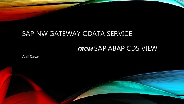 OData service from ABAP CDS