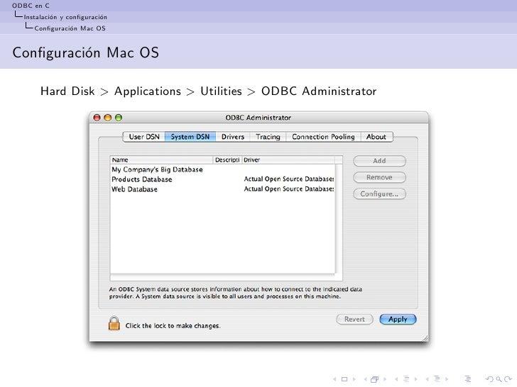 Install odbc Driver mac