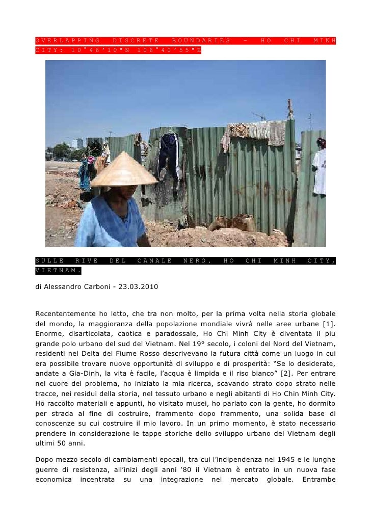 OVERLAPPING  DISCRETE  BOUNDARIES                             –     HO     CHI      MINHCITY: 10°46′10″N 106°40′55″ESULLE ...