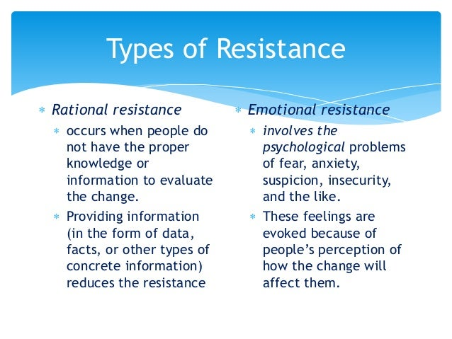 Organizational Change and Resistance
