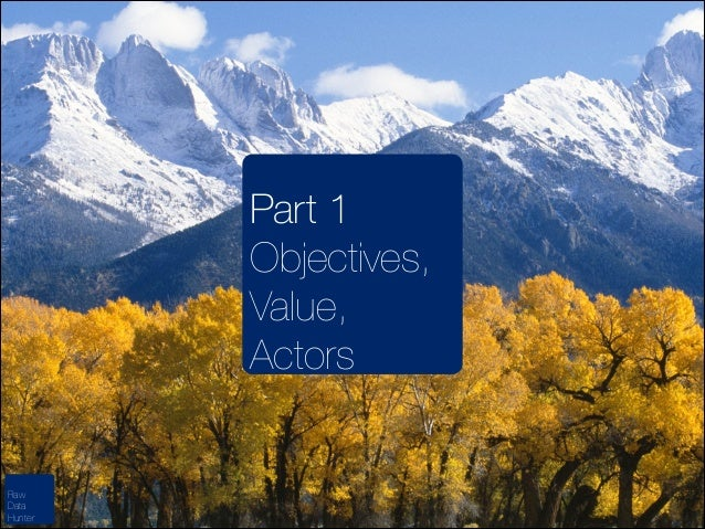 Part 1 Objectives, Value, Actors  Raw Data Hunter