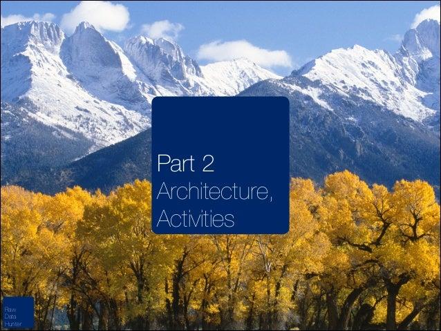 Part 2 Architecture, Activities  Raw Data Hunter